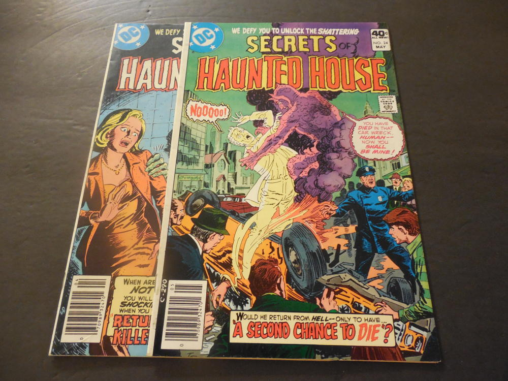 2 iss secrets of haunted house 23 24 1980 bronze age dc for Classic haunted house novels