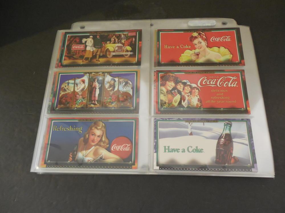 Complete 72 Card Set Coca Cola Shows Good Taste Cards
