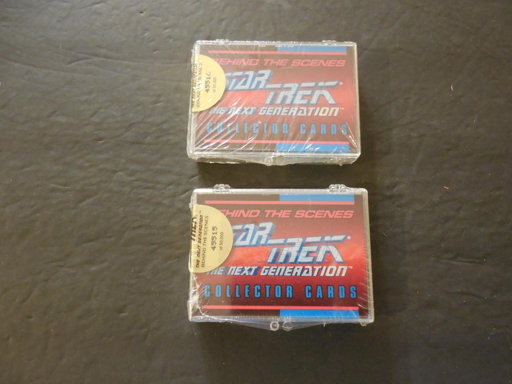Two Sealed Packs Of Star Trek TNG Behind The Scenes Cards 39 Cards Ea